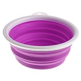 Feli546Bruce Pet Food Bowl, Portable Collapsible Folding Travel Pet Feeding Bowl Dog Cat Water Dish Feeder
