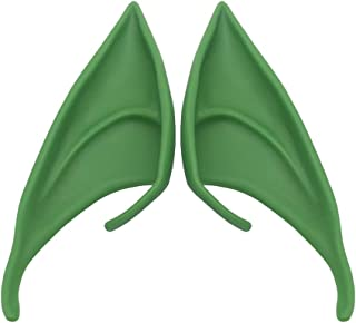NC 1 Pair Fairy Elf Ears Pointed Elven Vampire Costume Masquerade Halloween Photo Ear Live Broadcast Props - Green 12cm