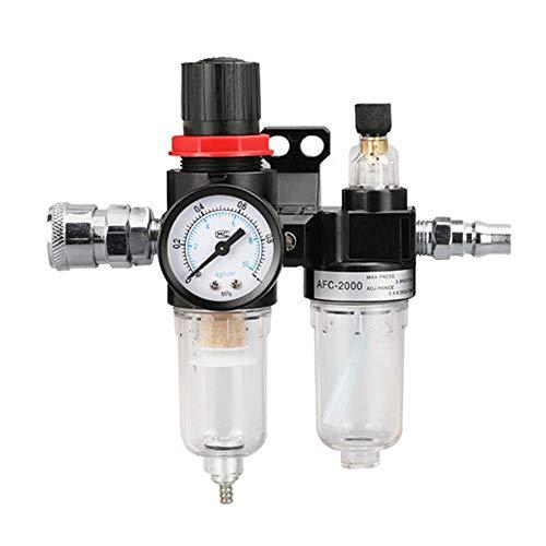 Mdurian Separador de Agua Reductor de presión Regulador de Aire comprimido para compresor Filtro 1/4 Humedad Aceite Agua Lubricador Procesador de Gas Componentes neumáticos