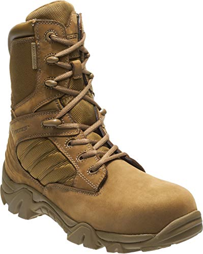 Bates Men's GX-8 Waterproof Composite Toe Side Zip Military and Tactical Boot, Coyote 5.5D (M) US