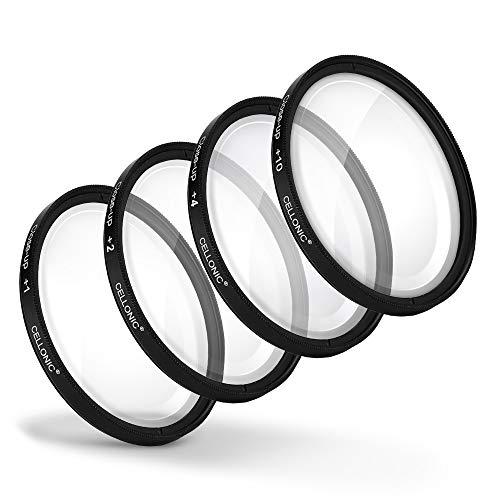 CELLONIC 4X Primer Plano Filtros Macro Filtro Compatible con Tamron SP 17-35mm F2.8-4 70-200mm F2.8 10-24mm F3.5-4.5 (Ø 77mm) Filtros Close-Up