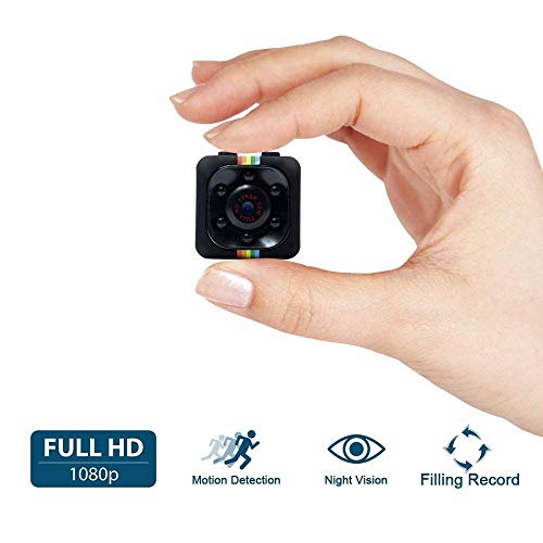 Mini Kamera, UYIKOO 1080P volle HD Mini Surveillance Cam, 12 Million Pixel Überwachungskamera mit Bewegungs Abfragung und InfrarotNachtsicht für Home / Office Indoor / Outdoor Security Kamera