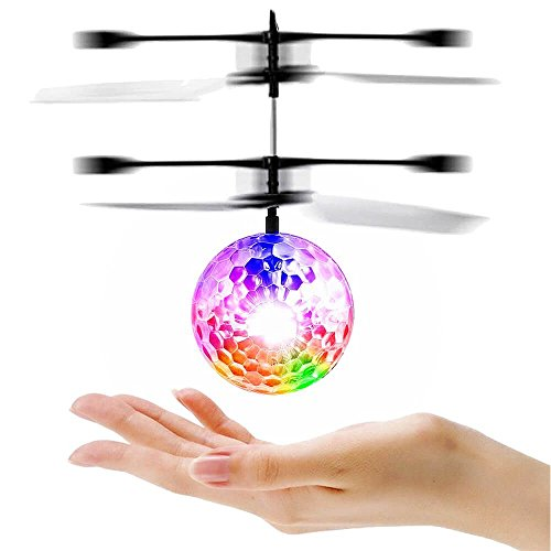 LESHP RC Toy, RC Flying Ball, RC infrared Induction Helicopter Ball Built-in Shinning LED Lighting for Kids, Teenagers Colorful Flyings for Kid's Toy