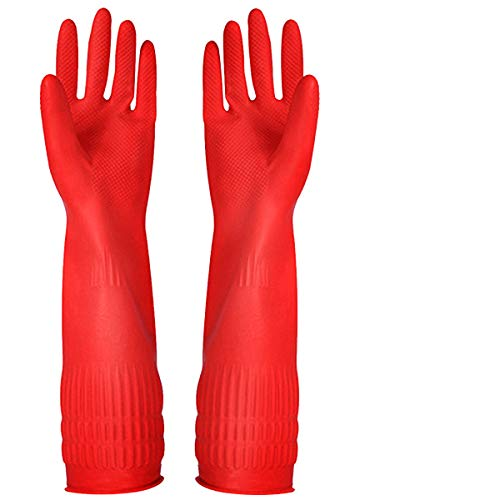 Product Image 1: Rubber Cleaning Gloves Kitchen Dishwashing Glove 3-Pairs,Waterproof Reuseable.(Medium)