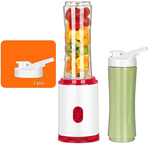 HYLK Personal Smoothies Blender For Juice Shakes And Smoothie, Milkshake, Fruit Vegetables Drinks, ice with 600mltritan bpa-free portable travel sports bottle,300w,double cup