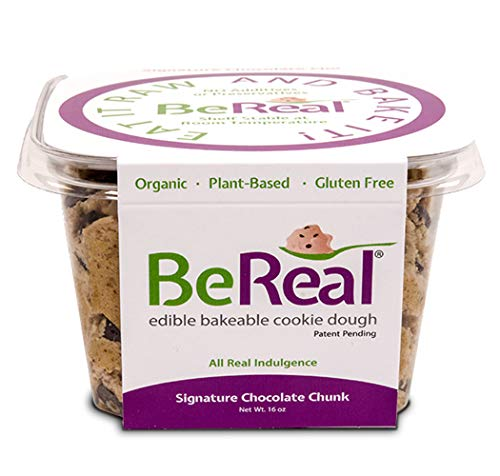 SIGNATURE CHOCOLATE CHUNK CHIP GLUTEN-FREE/PLANT- BASED COOKIE DOUGH - BeReal Doughs - 16 oz Resealable Packaging