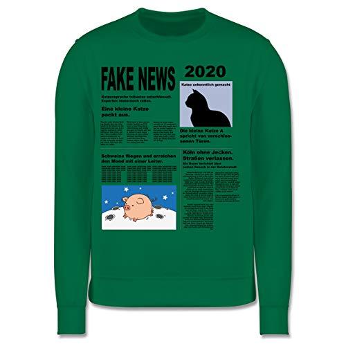 Shirtracer Karneval & Fasching Kinder - Fake News 2020 Kostüm Newspaper Zeitung - 128 (7/8 Jahre) - Grün - Zeitung - JH030K - Kinder Pullover