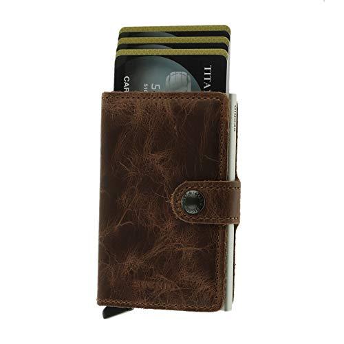 Secrid Vintage Miniwallet Börse mit RFID Schutz 6.5 cm Brown