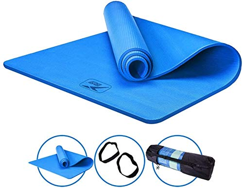 Yoga Mat Extension Thicken Anti-Slip Beginner Training Mat, SGS certificering Environmental Protection NBR Fitness Mat geschikt voor yoga en andere sporten,3,185cm*80cm*15CM