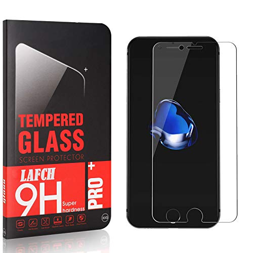 LAFCH Panzerglasfolie für iPhone SE 2020 / iPhone 8 / iPhone 7, 1 Stück mit 9H Härte, Anti-Kratzen, Anti-Öl, Anti-Bläschen, Hülle Freundllich, 3D Runde Kante
