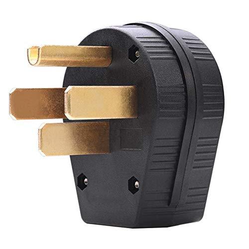RV Reemplazo macho enchufe de cuatro agujeros 50A 125-250V de hoja recta enchufe para industrial