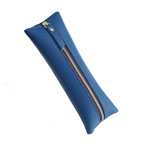 YDHG Caja de lápices Cosquero de Cuero Pluma Pluma Bolsa Bolsa Bolsa de Viaje Maquillaje cosmético Bolsa para cumpleaños o como artículo para la Vuelta al (Color : Blue, Size : 195x75mm)