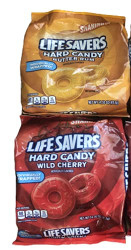LifeSavers Hard Candy Wild Cherry and Butter Rum Pack of 2 Sharing...
