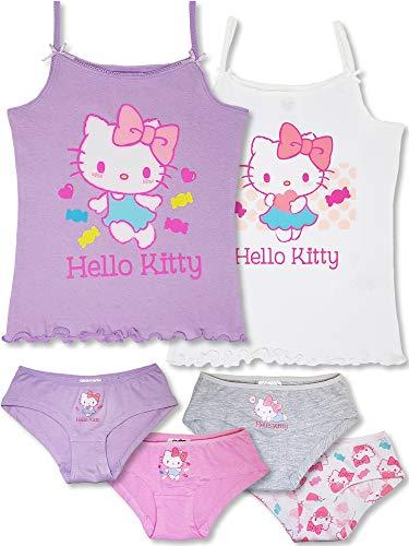 Hello Kitty - 6-TLG. Mädchen Unterwäsche-Set (98/104 (Herstellergröße 2-3 Jahre))