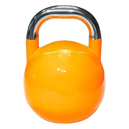 Iboing Kettlebell, Kugelhantel aus Stahl Schwunghantel Workout in verschiedenen Gewichtsstufen mit Vinylüberzug,Orange,8kg