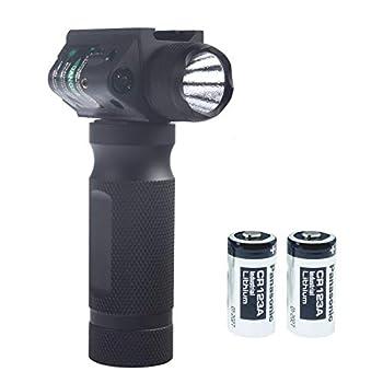 600 Lumen LED Tactical Flashlight for 20-22mm Adjustable Guide Rail Mount 2 Mode Lighting Super Bright Anti-Slip Handheld Flashlight for Indoor Outdoor Black