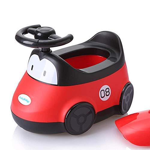 LCZ Toilette WC per Bambini Allenatore Vasino per Addestramento dei più Piccoli Facile da Pulire E Usare, Comodo E Staccabile Vasino con Volante,Rosso