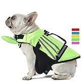 French Bulldog Dog Life Jacket, Wings Design Pet Life Vest, Dog Flotation Lifesaver Preserver Swimsuit with Handle for Swim, Pool, Beach, Boating, for Puppy Small, Medium, Large Size Dog