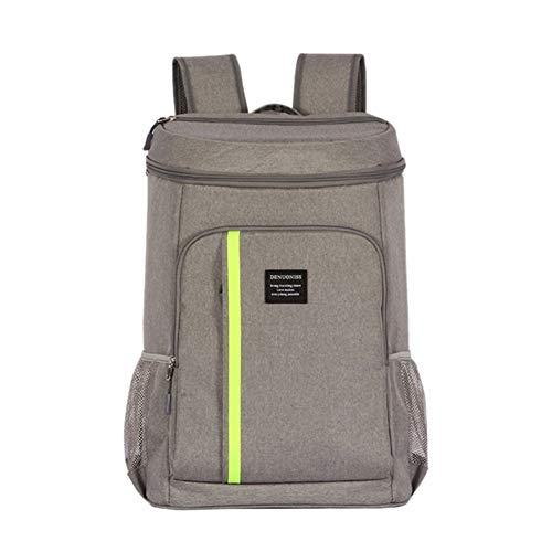 Picnic basket Lunch Bags Insulated Cooler Bag Large Capacity Bag Portable Food Backpack Waterproof Ice Pack Lunch Bags (Color : Gray)