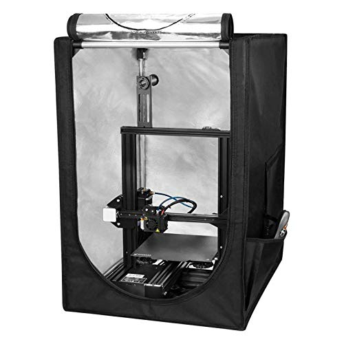 RuiXia Printer Enclosure, Fireproof and Dustproof 3D Printer Tent, Constant Temperature, Soundproof, Printer Enclosure Protective Cover, 48x50x73cm, Compatible for Ender 3/Ender 3 Pro/Ender 5