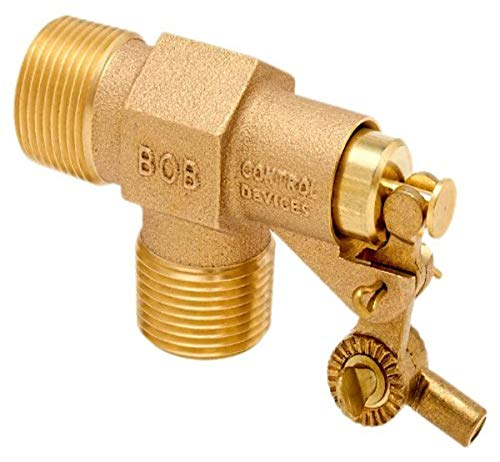 Robert Manufacturing R400 Series Bob Red Brass Float Valve, 3/4' NPT Male Inlet x 3/4' NPT Male Outlet, 39.9 gpm at 85 psi Pressure