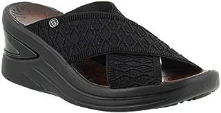 BZees Womens Vista Open Toe Casual Slide Sandals
