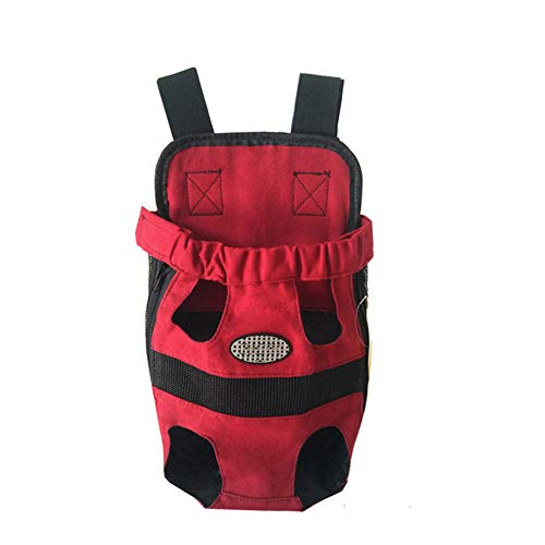 GUOCU Pet Hunde Rucksack Carrier vorne Pack verstellbar Katze Outdoor Travel Bag Rot L