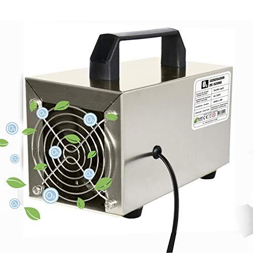 O3 Compact Prime -Generador de ozono Industrial 12.000 MG/h 220v, Limpiador de ozono, Dispositivo de ozono para Habitaciones, Humo, Coches y Mascotas.Tecnologia Honey-Comb-Tec © (12.000 MG/h Prime)