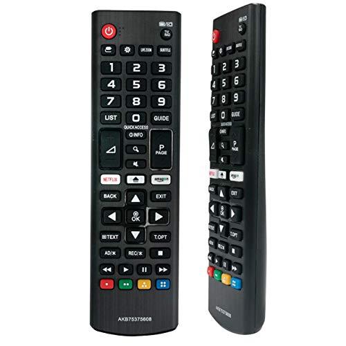 VINABTY AKB75375608 Mando a Distancia reemplazado para LG LED 4K UHD TV 50UK6500 32LK6100 50UK6750 55UK6100 55UK6400 55UK6470 55UK6500 55UK6750 65UK6100 65UK6300 65UK6400 65UK6500 65UK6750