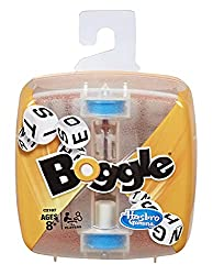 A compact, travel-size Boggle game.