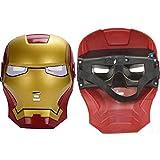 morningsilkwig Ironman máscara Fiesta máscara de superhéroe para Navidad Iron Man acción Traje Regalo (Rojo, S)