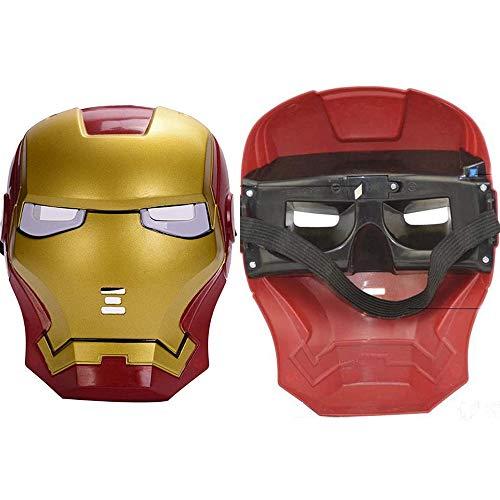 Morningsilkwig Ironman Maske Party Superhelden Maske für Urlaub Iron Man Action Kostüm Geschenk