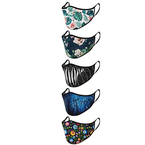 cinnamou Mundschutz Gesichtstuch mit Superhelden Motiv – 5er Baumwoll Mundschutz bunt, lustig, komisch – für Männer, Frauen & Kinder (E-2)
