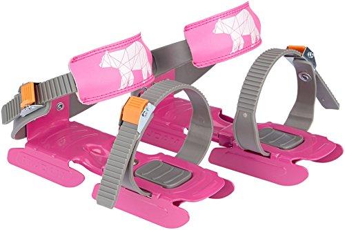 Nijdam® Junior Kinderschlitschuhe verstellbare Gleitschuhe Größe 24 - 35 Blau oder Rosa (Rosa)