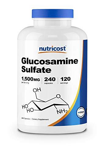 Nutricost Glucosamine Sulfate 750mg, 240 Capsules (1500mg Per Serving)