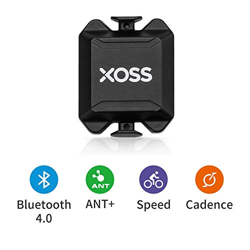 XOSS Cadencia/Velocidad Sensor para la computadora de la Bici teléfono Inteligente Bluetooth/Ant + Modo Dual Ciclismo Bicicleta inalámbrica (Cadencia/Velocidad Sensor)