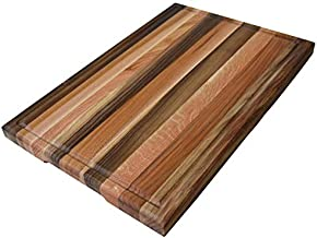 Cutting Board 16 x 10 x 1.2 inches Edge Grain Chopping Block Wood: Ash Oak Maple Cherry Walnut Hardwood Thick Durable & Resistant (16 x 10 inches Walnut, Ash, Oak, Red Oak, Maple, Cherry)