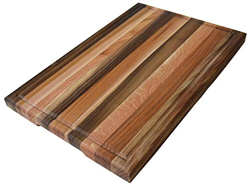 Cutting Board 18 x 12 x 1.2 inches Edge Grain Chopping Block with Juice Groove Wood: Walnut, Ash-tree, Oak, Red Oak, Maple, Cherry Hardwood Extra Thick Serving Platter Durable & Resistant