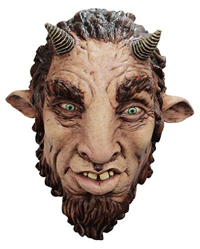 Horror-Shop Faun Fantasy Latexmaske für Halloween & Fasching