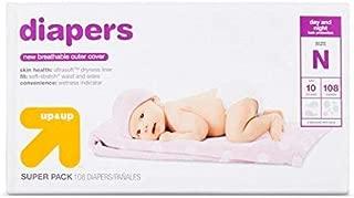 Up & Up Diapers Super Pack, Newborn 108 Ct