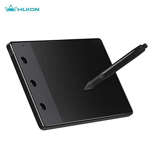 Leepus Huion H420 4x2.23 pulgadas Tableta de dibujo de tableta gráfica profesional Tablero de almohadilla de firma con 3 teclas de acceso directo Niveles de presión 2048 Compatible con Windows 7/8/10