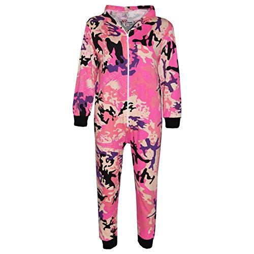 A2Z 4 Kids® Kinder Strampelanzug Mädchen Jungen Baby Rosa Designer - A2Z Camo Onesie Baby Pink_11-12