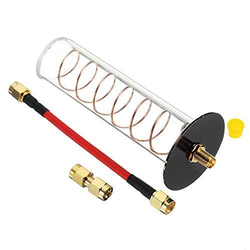 HONG YI-HAT 5.8G 16dbi RHCP Directional Spiralfeder Helical FPV-Antenne 11cm RP-SMA/SMA for FPV Transmitter TX RC Modelle DIY ACCS Ersatzteile (Color : SMA Male)