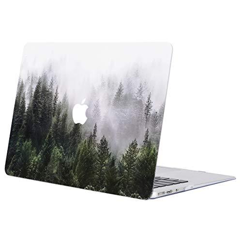 MOSISO Hülle Kompatibel mit MacBook Air 13 - Ultra Slim Plastik Matt Hartschale Case mit Muster Kompatibel mit MacBook Air 13 Zoll (A1369 / A1466, 2010-2017 Version), Grün Wald