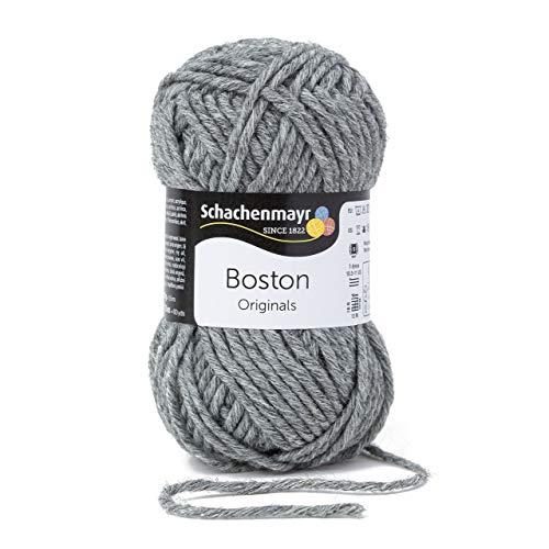 Schachenmayr Boston 9807412-00092 mittelgrau meliert Handstrickgarn