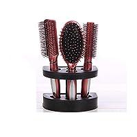 帯電防止もつれ防止マッサージクッションコーム、3本セットのラウンドヘアブラシカールヘアスタイリングブラシ、理髪ツール,C