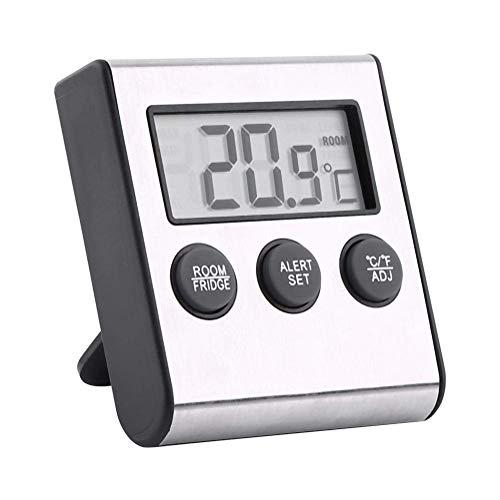 RILLATEK Termómetro de refrigerador Digital, Monitor de Temperatura de Nevera con Pantalla LCD más Grande, termómetro de habitación Mini congelador, con Registros de Temperatura MAX/MIN