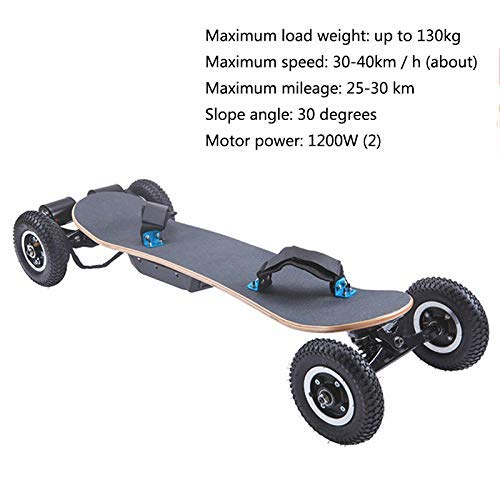Zhihao Off-Road Elektro-Scooter, High-Speed 40 km/h 4-Rad Electric Power Skateboard, DREI Geschwindigkeits Modi 9 Zoll Reifen drahtlose Fernbedienung