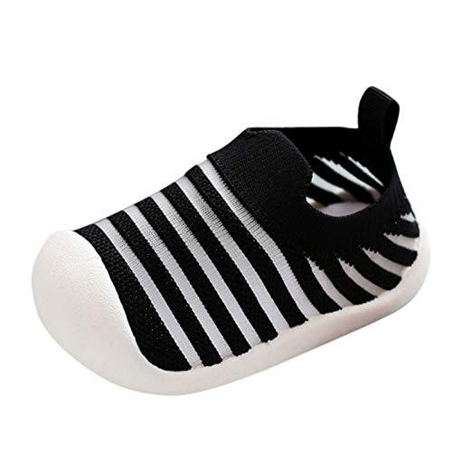 YWLINK Zapatillas Transpirables,Zapatos De Malla A Rayas,Zapatos De Primer Paso Zapatos Para BebéS De Suela Blanda Antideslizantes Zapatillas EláSticas De Cama Regalo De CumpleañOs