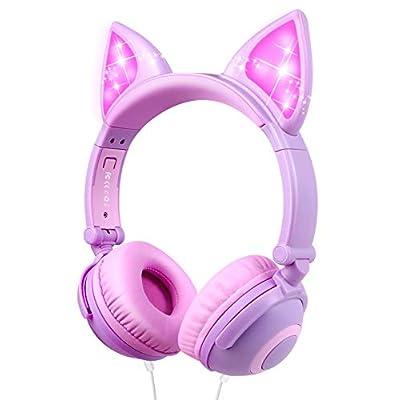 Amazon - Save 70%: Kids Headphones Cat Ear On Ear Headphones Cute Kids Headset for Girls, Bo…